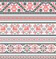Collection of embroidery ornament vector image vector image