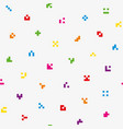 multicolor abstract pixelated icons seamless vector image