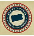 Vintage label Pennsylvania vector image