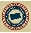 Vintage label Pennsylvania vector image vector image