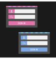 Login form set Website template vector image