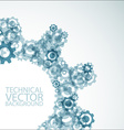 background made from cogwheels vector image