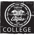College emblem design vector image