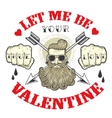 Cool card on the theme of Valentines Day vector image