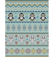 Knitted bright seamless winter pattern vector image vector image