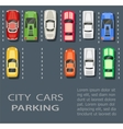 city parking lot vector image vector image