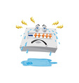 Switchboard Crying Tears Cartoon vector image