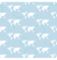 seamless light pattern with maps of the world vector image