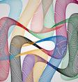 Colored wavesai vector image