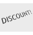 discount text design vector image