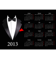 European calendar with smoking 2013 vector image