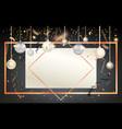 golden holiday frame-13 vector image