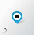 GPS eye vector image