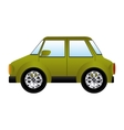 green silhouette with big automobile vector image