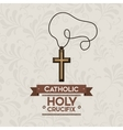 holy crucifix design vector image