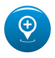hospital map pointer icon blue vector image