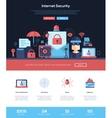 Internet security services website header banner vector image