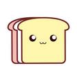 kawaii bread vector image