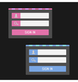 Login form set Website template vector image