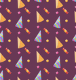 Seamless Funny Texture with Party Hats and Sweets vector image