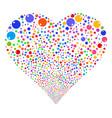 sphere fireworks heart vector image