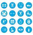 gym icon blue vector image