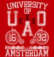 typographic amsterdam city poster design vector image