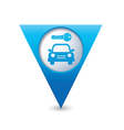 parking symbol map pointer blue vector image vector image