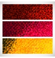 Colorful Pixel Background Set of Abstract Mosaic vector image vector image