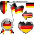 Glossy icons with Germany flag vector image