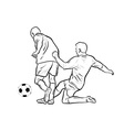 football players isolated on the white vector image vector image