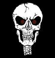 Red eyes Skull vector image
