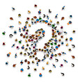 a crowd of people in the form of a question symbol vector image