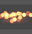 abstract orange bokeh circles vector image