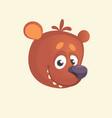 cartoon cute bear icon vector image