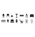 chair icon set simple style vector image
