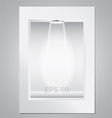 empty display for exhibition vector image