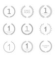 first place labels vector image