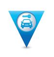 parking symbol map pointer blue vector image