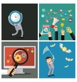 Set of business concepts Time management vector image