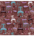 Chairs pattern vector image