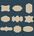 set of blank vintage frames vector image vector image