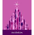 Christmas Tree Cutlery Design vector image vector image