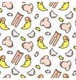 baby line icon cute tender pattern vector image