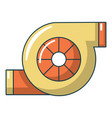 turbo charger icon cartoon style vector image