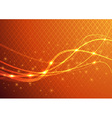 Orange abstract background - energy flare vector image