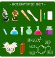 set of scientific icons vector image
