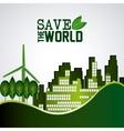 Save world design vector image