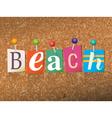 Beach Concept vector image vector image