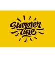 Summer time lettering logo vector image